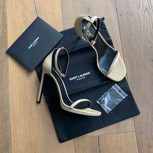 🔹 Saint Laurent Nude Jane 105 Leather Sandals